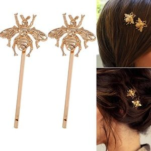🎉 New Bumble Bee Golden Hair Clip Accessory